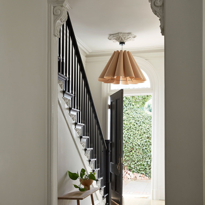 Statement light in your hallway. adding character to hall way. Interior designing by lakkad works.