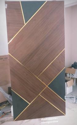 Door Panel with inlay metal strip