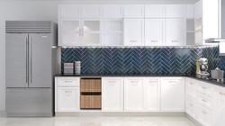 Classic Modular kitchen designed in PU finish
