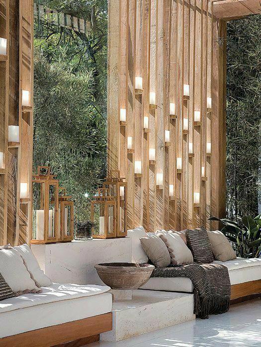 wooden embellished wall, LED wall. organic interiors. lakkadworks