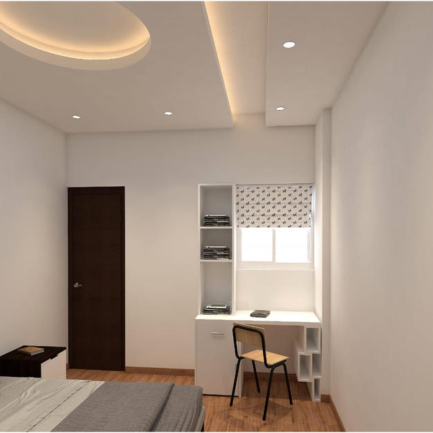 A simple false ceiling to give that even luminance throught the room