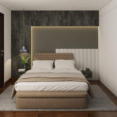 Grayium beige bedroom