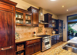 Wood Lux One walled kitchen