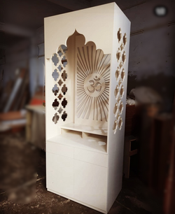 CNC Router Cut Mandir (temple) with stor