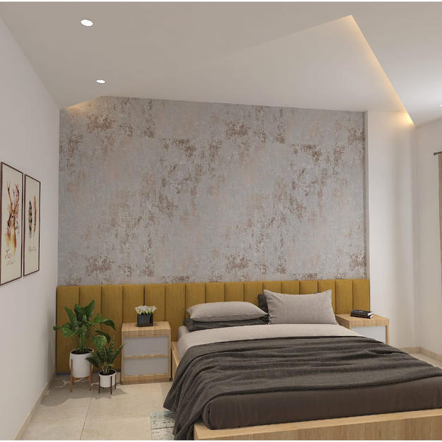 Master bedroom with classy false ceiling