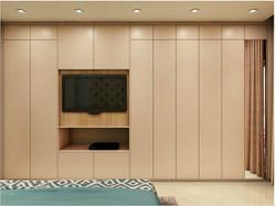 full wardrobe with tv unit