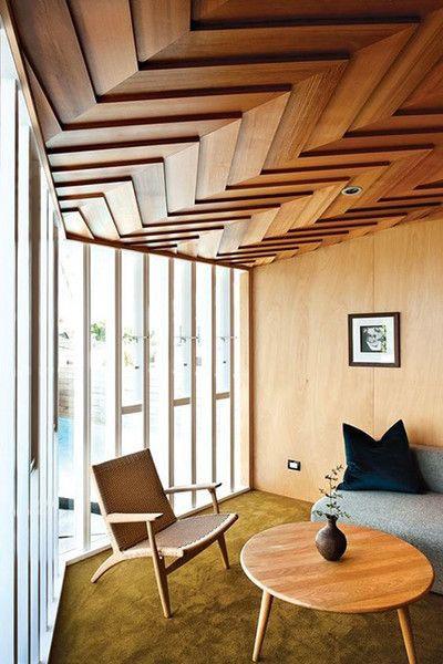 wooden false ceiling, geometrical false ceiling designs, false ceiling design ideas, lakkad works, home interiors, interior designing ideas