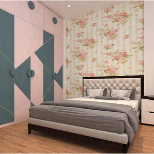 Kids room Modular wardrobe Pink dawn and Shore Blue