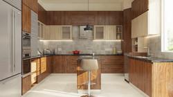 Wooden grain laminate finish u shaped mo