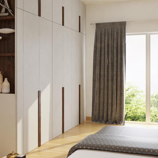 Master bedroom wardrobe with long handles