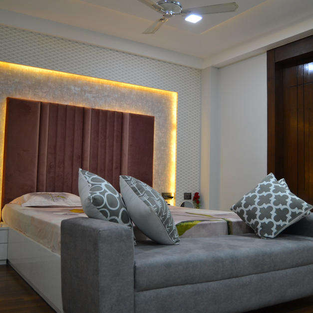 Backlite wall with cushioned wall