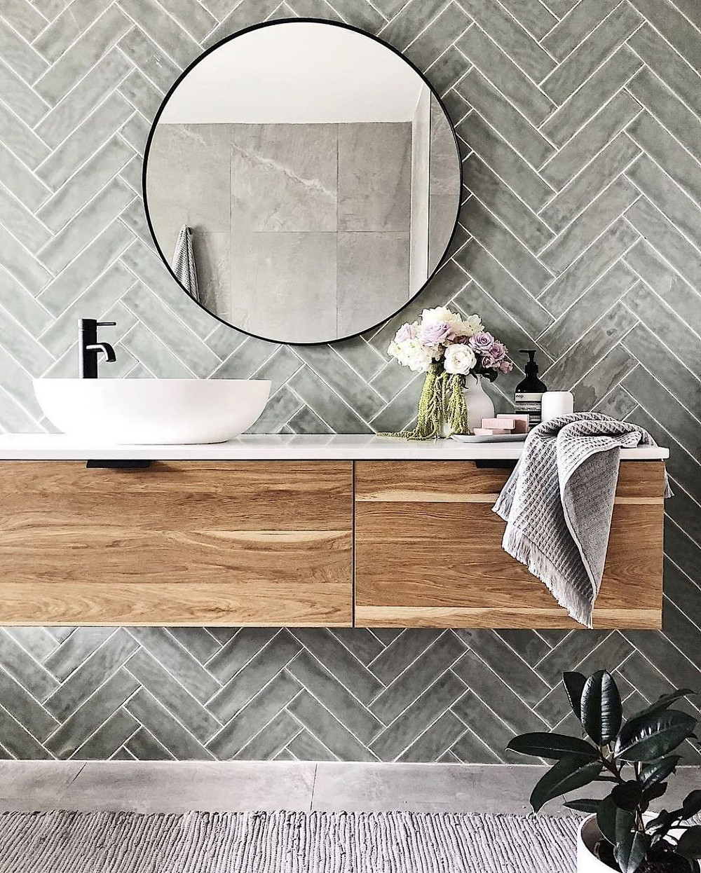 thin frame mirror. cluster free bathroom design tips. lakkad works