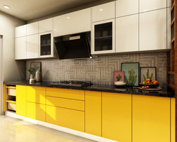 Bright Yellow Happy Kitchen