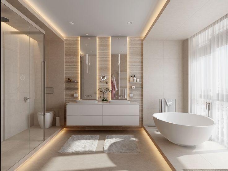 perimeter lighting for cozy feel in bathroom. bathroom designing tips. lakkad works