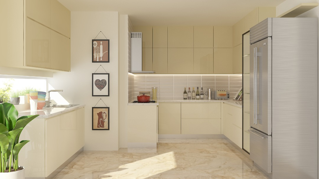 Front facia Modular kitchen design Gurga
