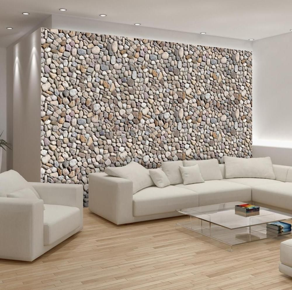 Pebble wall. Organic Interiors, neutral colours. Lakkadworks
