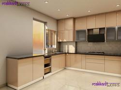 U shaped kitchen front facia
