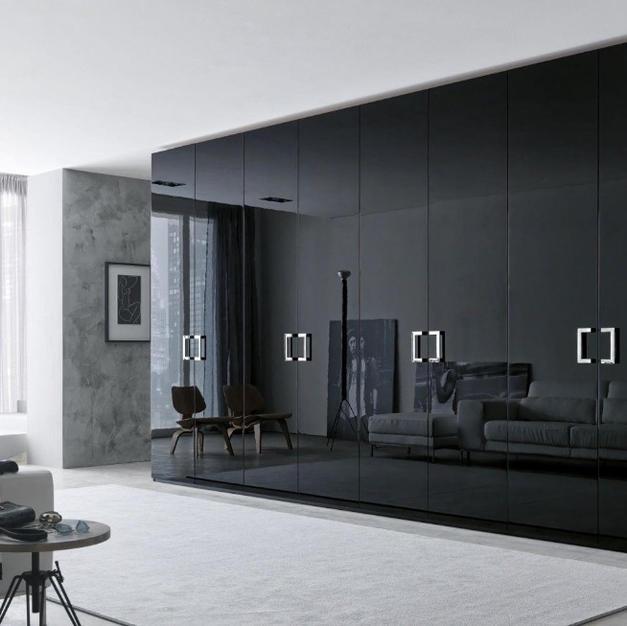 UV finish black wardrobe