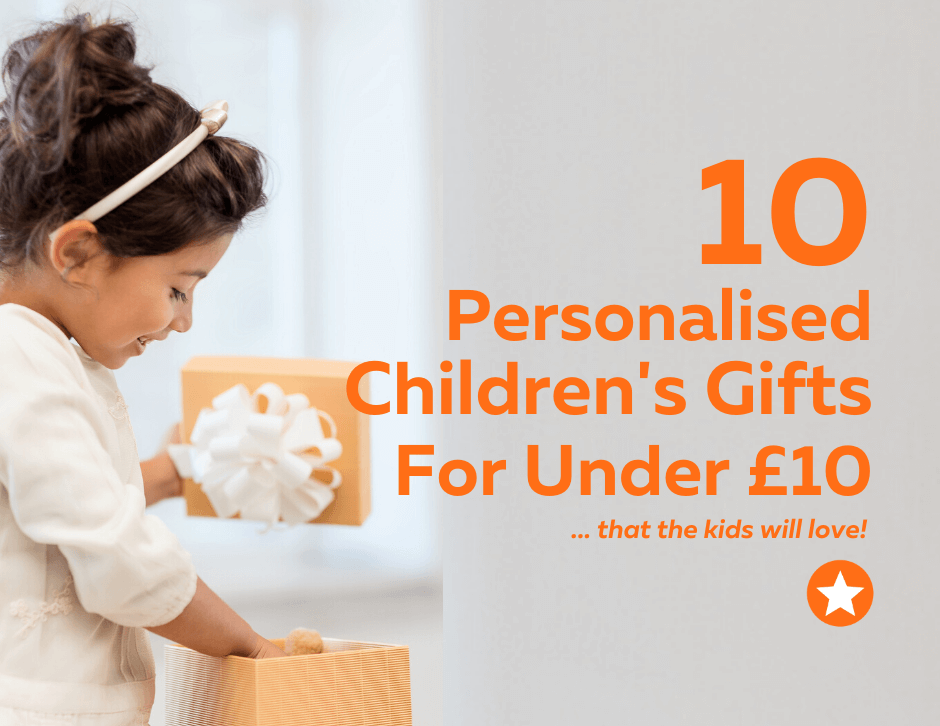Personalised children's gifts under £10