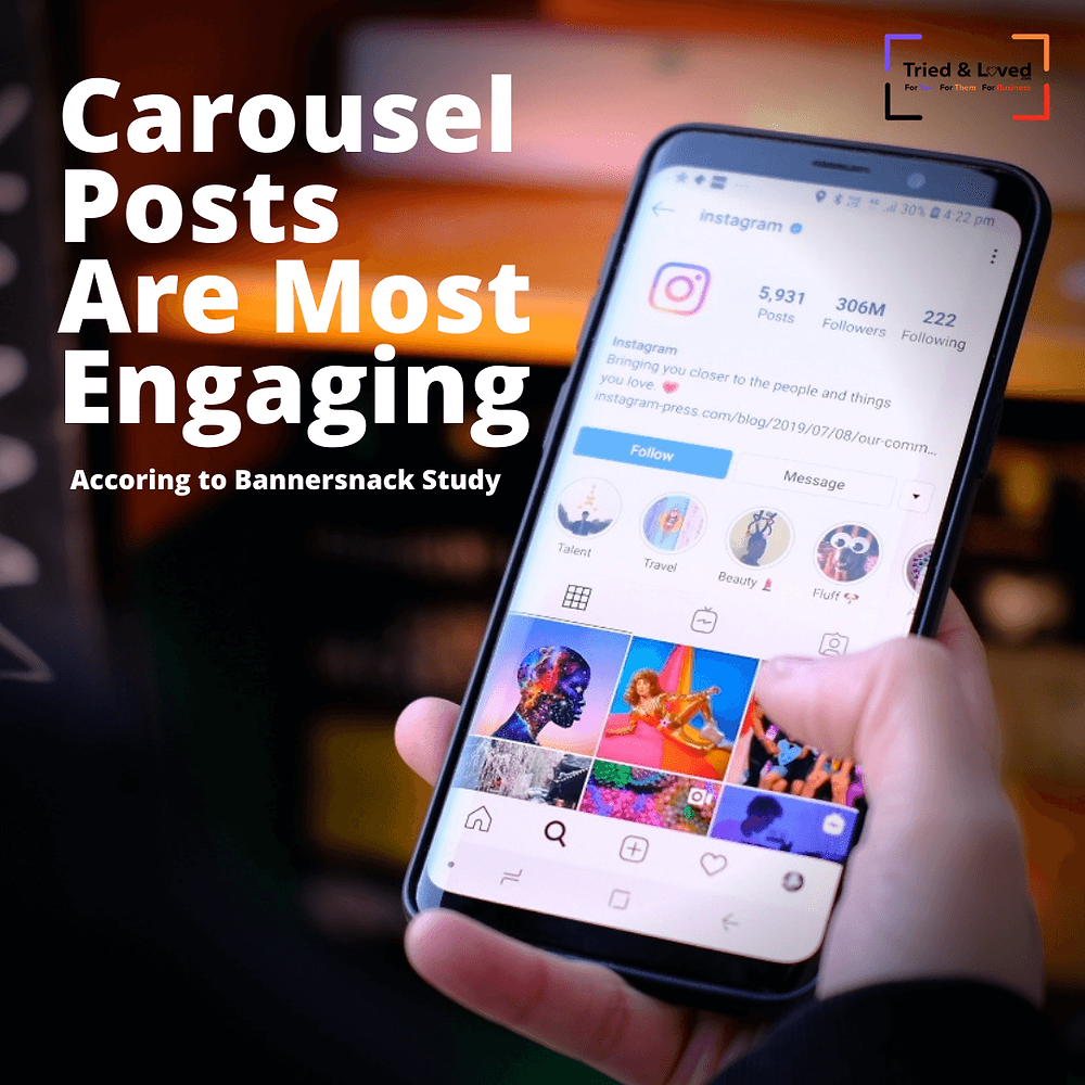 Carousels are the most engaging posts