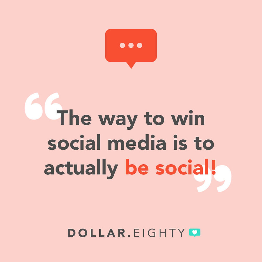 Dollar Eighty recommends being social for engagement