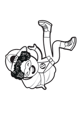 Superheroes Dance Too Colouring Page