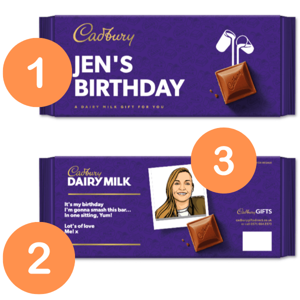 3 places you can personalise a dairy milk chocolate bar