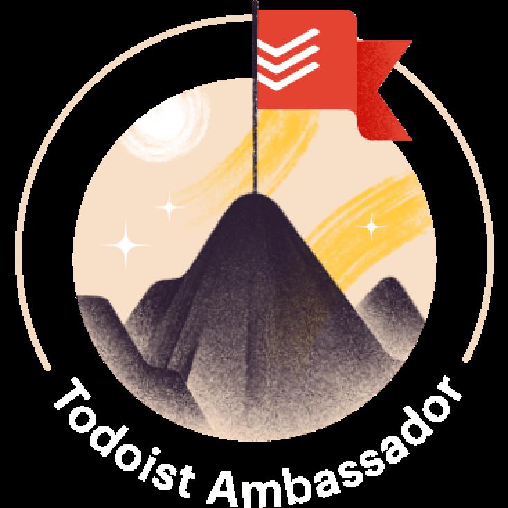 Todoist ambassador badge