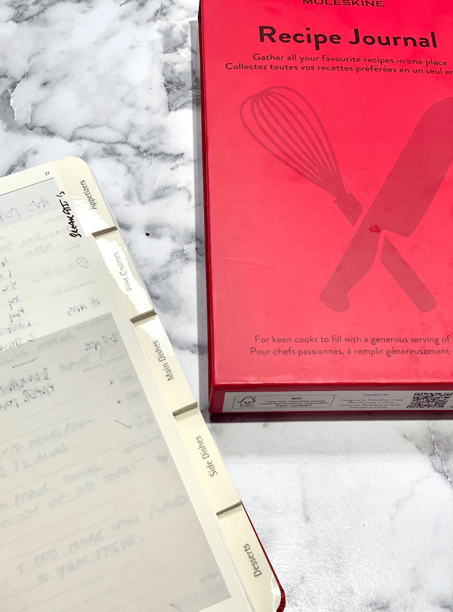 Moleskine Recipe Journal - add your lasagne recipe