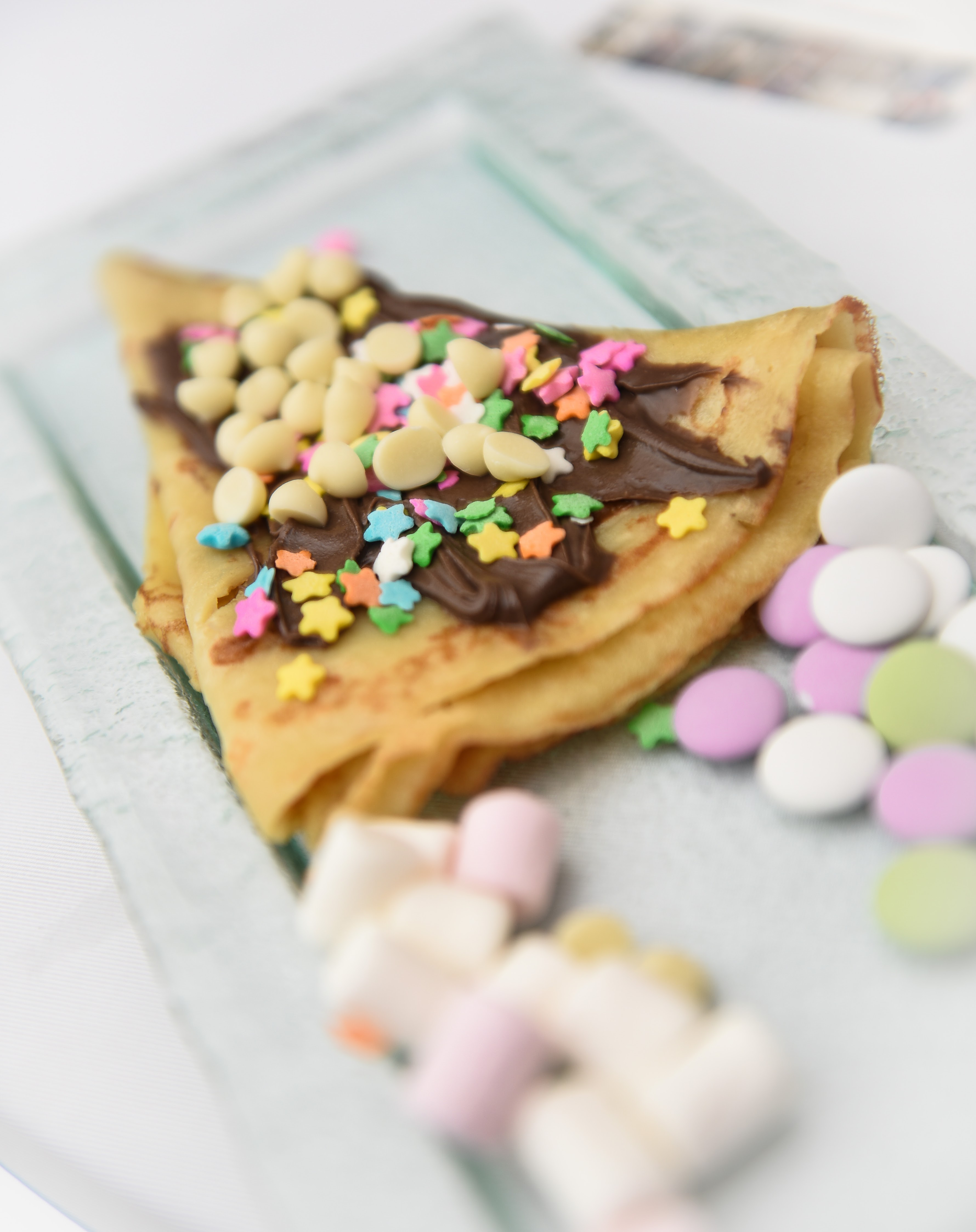 Chocolate filled crepe