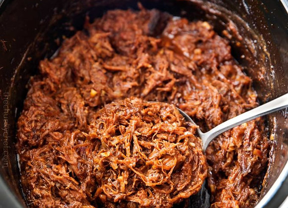 Slow cooked pulled beef
