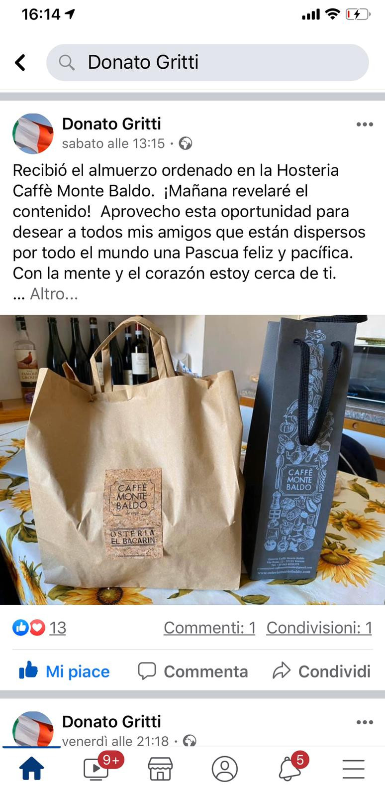 La consegna da Donato_caffemontebaldo_delivery