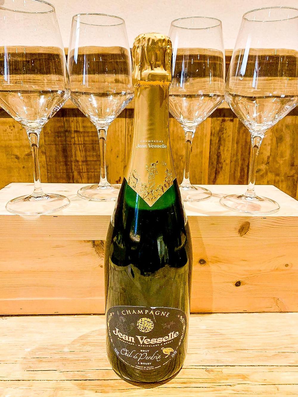 Champagne Jean Vesselle brut dalla Cantina del Caffè Monte Baldo