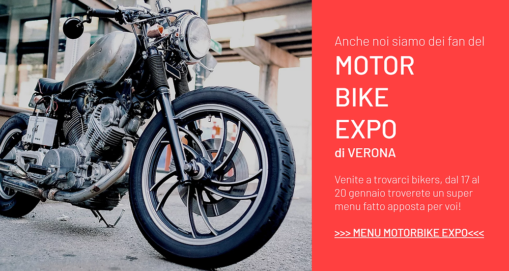 Motor Bike expo 2019 special food menu @ lapiazzetta restaurant Verona