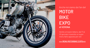 Motor Bike expo 2019 special food menu @ lapiazzetta restaurant Verona