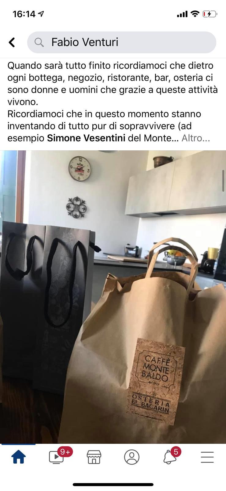 La consegna da Fabio_caffemontebaldo_delivery