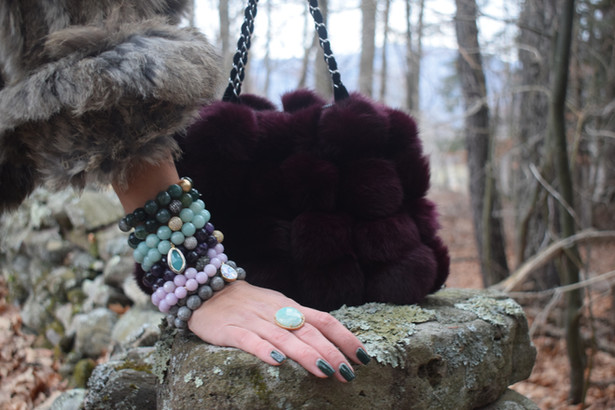 Shaded Spruce and Moss Green Agate are the perfect combination for your winter wonderland!