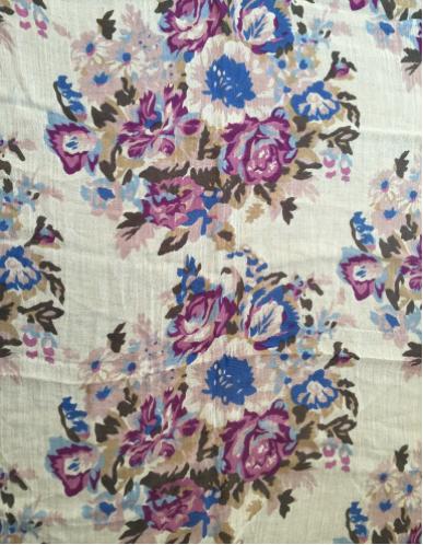 Purple Floral Escapade Scarf/Coverup