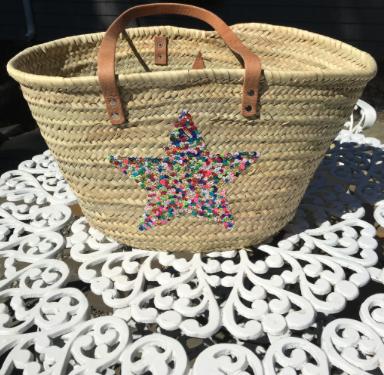 Multicolor Star Beach Bag