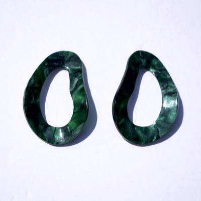 Layla Acrylic Green Hoop
