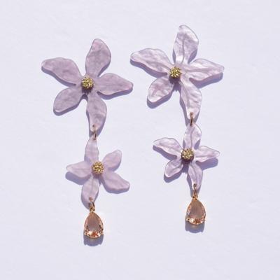 Corsica Triple Flower Acrylic Earrings