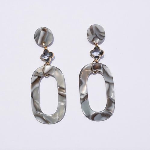 Silky Wave Acrylic Earrings