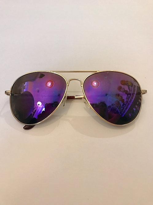 Skyline Purple Aviator Sunglasses
