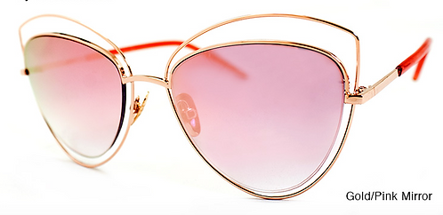 Melinda Gold/Pink Mirror Sunglasses