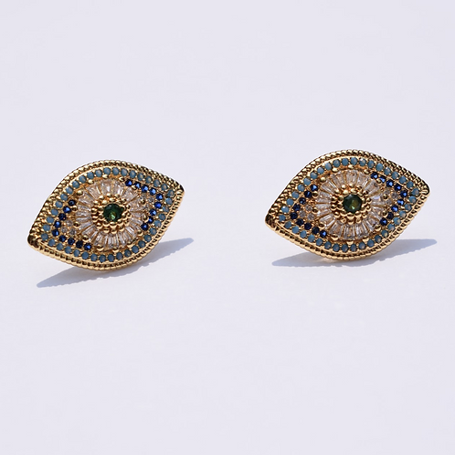 Oia Evil Eye Acrylic Earrings
