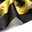 Thumbnail: Black Lemon Print Silk Scarf