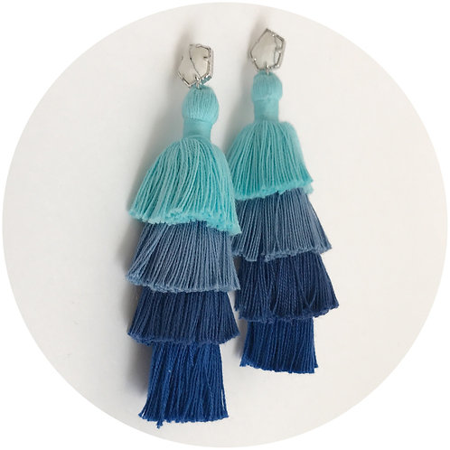 Tula Blue Ombrè Tassel Earring