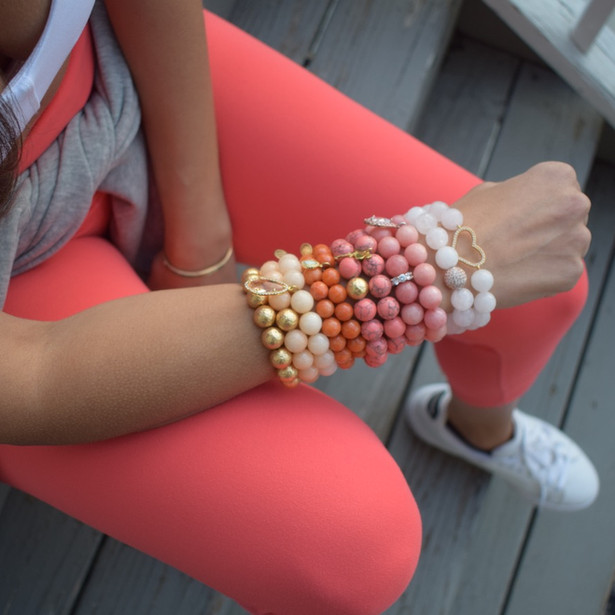 Blooming into Spring with Coral Pink Howlite!