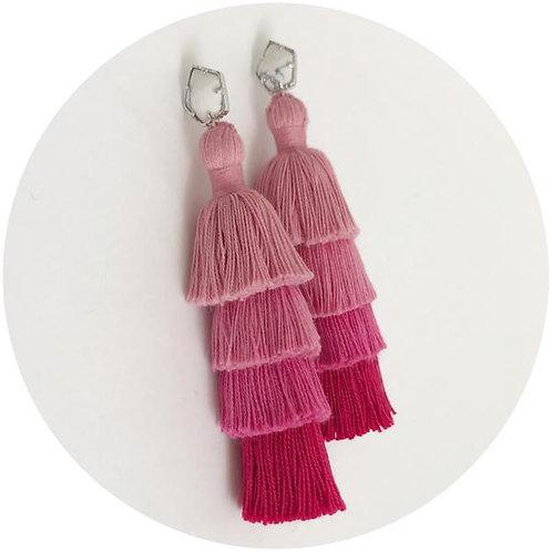Tula Pink Ombré Tassel Earrings