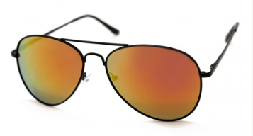 Skyline Black Aviator Sunglasses
